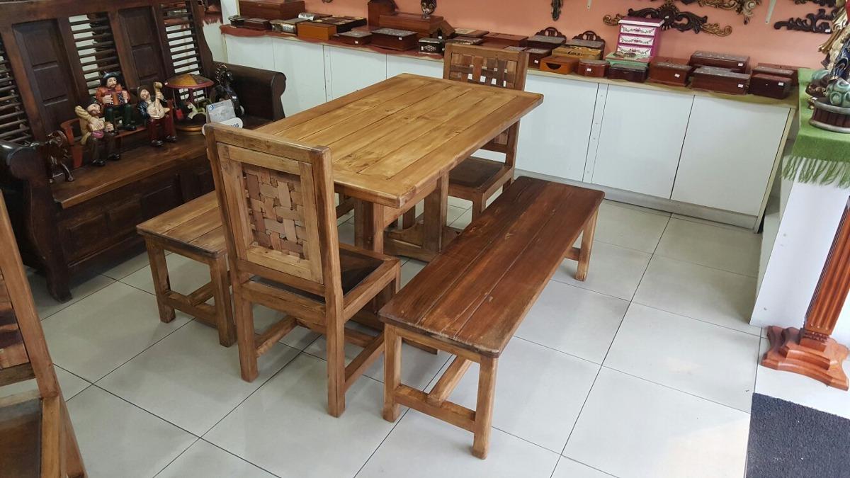 Comedores Rústicos Para Cafetería - U$S 280,00 en Mercado Libre