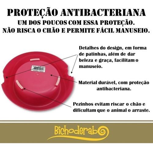 comedouro cachorro pequeno ou filhote pet flex antiderrap./ antibacteria 300 ml