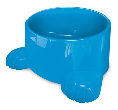 comedouro de plástico com patas para cães 1400ml azul n.3