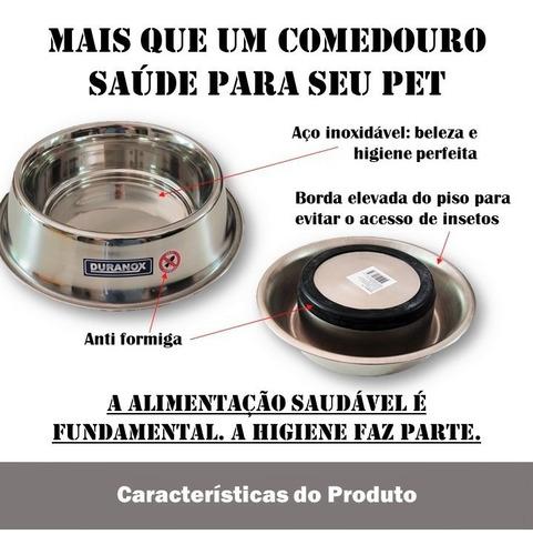 comedouro p/ gato antiformiga inox petflex