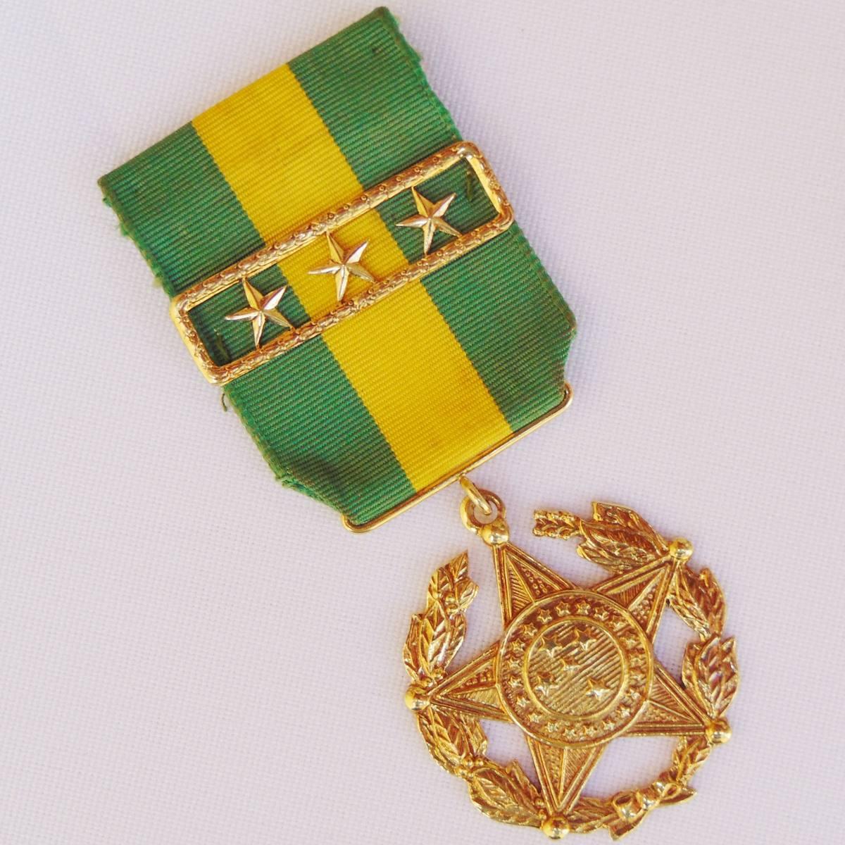 7dd748c4c8ad8 Comenda Condecoração Mérito Militar 30 Anos Ouro Maciço 19 G - R ...