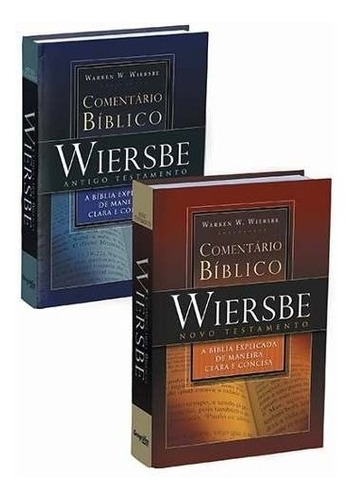 comentário bíblico expositivo -2 vol. warren w. wiersbe