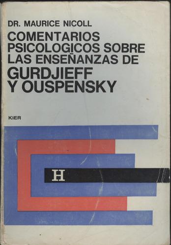 comentarios psicologicos sobre las enseñanzas de gurdjieff