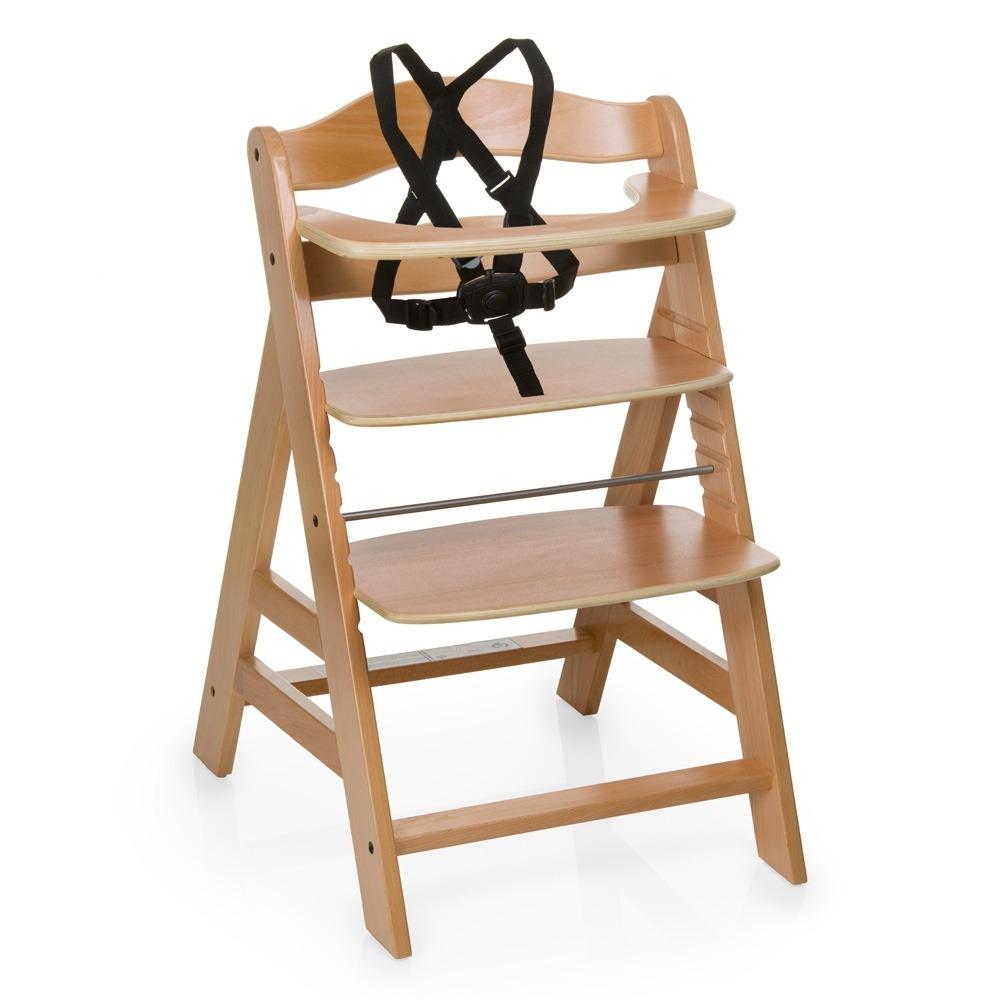 Silla para comer de bebe alpha hauck en for Silla de bebe de madera