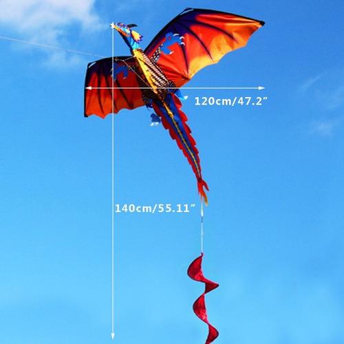 cometa importada 3d polyester dragon 100 mts de linea