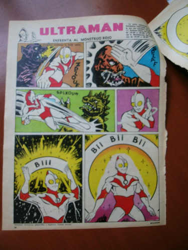 comic antiguo,clipping de ultraman. revista billiken.