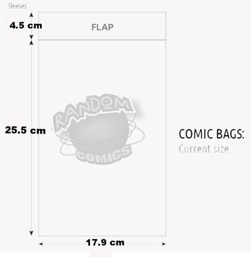 comic bags bolsa cuida tus comics x100 tam current dc marvel