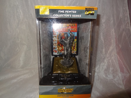 comic book champions fine pewter antorcha humana marvel gold