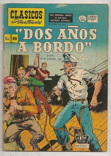 comic clásicos ilustrados 39 dos años a bordo la prensa 1955