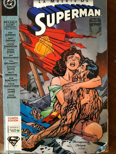 comic dc la muerte de superman oferta excelente estado