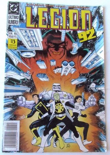 comic dc: legion 92 #15 (con lobo). editorial zinco