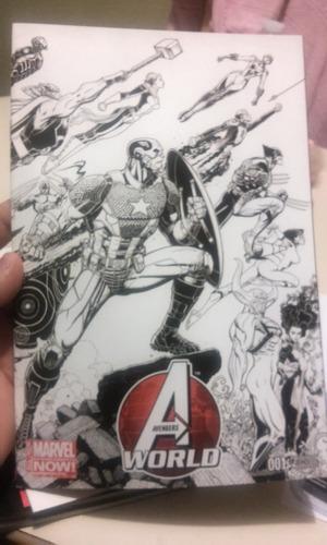 comic de coleccion marvel avengers world no. 1 variante