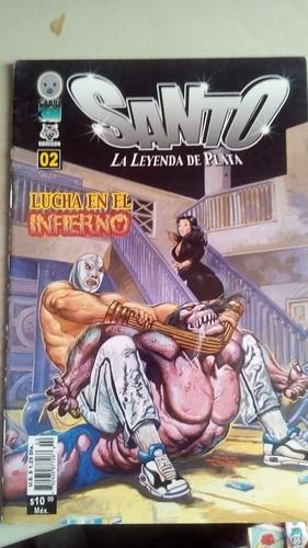 comic el santo la leyenda de plata no.2 año-1988