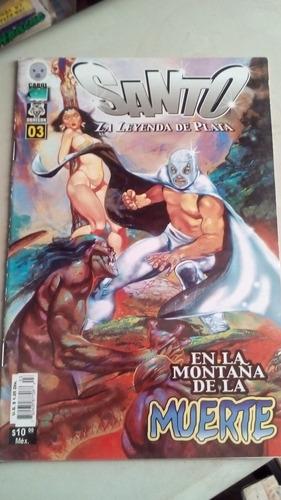 comic el santo la leyenda de plata no.3 año-1988