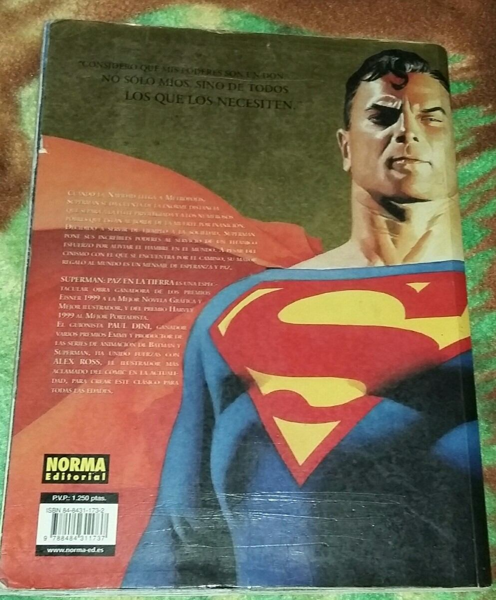 206-213 - [DC - Salvat] La Colección de Novelas Gráficas de DC Comics  - Página 12 Comic-especial-superman-paz-en-la-tierra-editorial-vid-D_NQ_NP_825421-MLA20788501691_062016-F