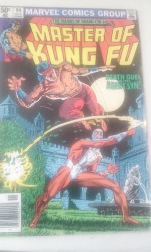 comic marvel en ingles shang chi master of kung fu no. 94