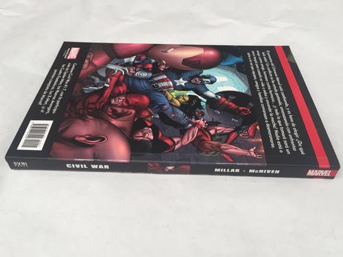 cómic, marvel, excelsior: civil war. ovni press