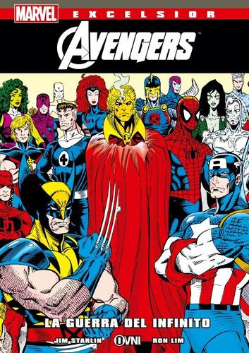 cómic, marvel, excelsior la guerra del infinito. ovni press