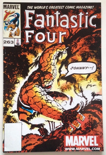 comic marvel: fantastic four (4f) #263. direct edition