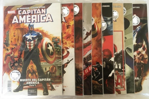 comic marvel: la muerte del capitán américa. completa