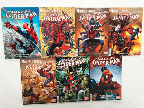 comic, marvel, pack  universo araña  amazing spiderman 1-7