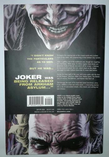 comic novela grafica joker dc comics ingles tapa dura batman
