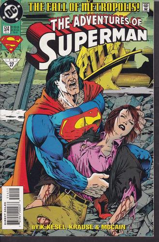 cómic original adventures of superman #514 - 1994 dc comics