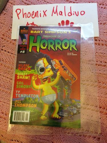 comic simpsons autografiado por bill morrison!. (o )( o)