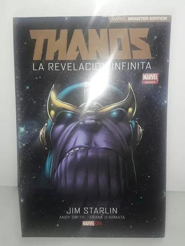 comic thanos la revelacion infinita marvel monster edition