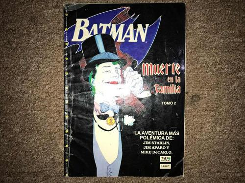 comic tomo: batman muerte en la familia tomo 2 vid