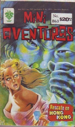 comic  tres mini aventuras # 861, 863, 865 vid  en español