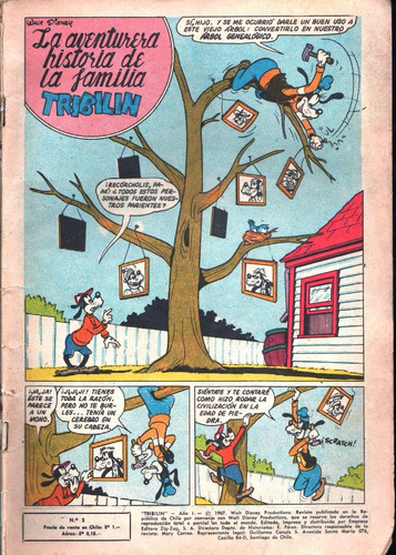 comic tribilín año i n° 3.