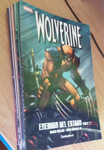 comic wolverine enemigo del estado + caza de mistique