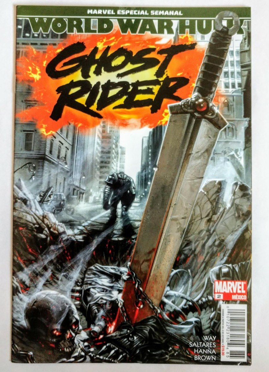 Comic World War Hulk No  2 Ghost Rider Marvel Televisa