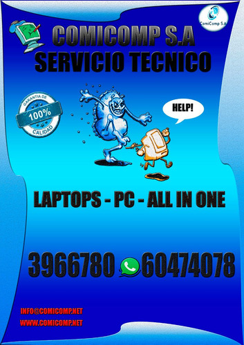 comicomp/soporte tecnico/ computadoras laptops a domicilio