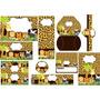 Kit Imprimible Safari Animal Print Tarjetas Cumpleanos No 3