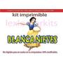 Kit Imprimible Candy Bar Blanca Nieves Cotillon Tarjetas #2