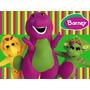 Kit Imprimible Barney Diseña Tarjetas Invitaciones Y Mas #1