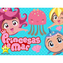 Kit Imprimible Princesas Del Mar Diseñá Tarjetas Y Mas #2