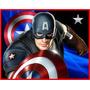 Kit Imprimible Capitan America Diseñá Tarjetas Invitacion #2
