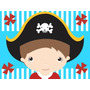 Kit Imprimible Piratas Diseñá Tarjetas Cotillon Y Mas #1