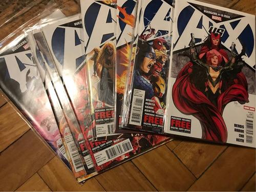 comics avengers vs x-men en ingles 12 numeros