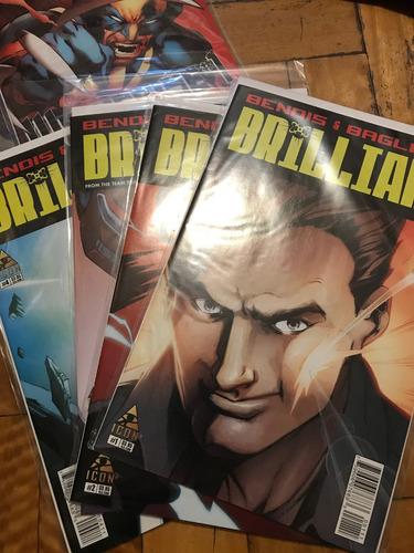 comics brilliant de bendis (en ingles) 1,2,3,4