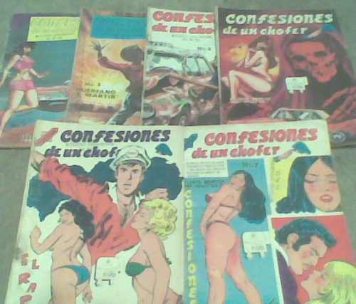 comics confesiones de un chofer año 1971