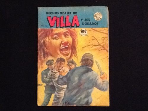 cómics hechos reales de villa y sus dorados #12 joma 1965