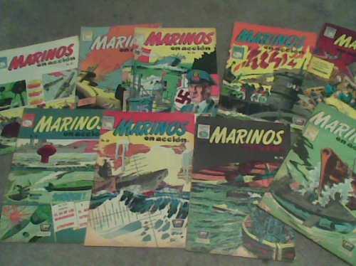 comics marinos en accion  edit.la prensa año 1960