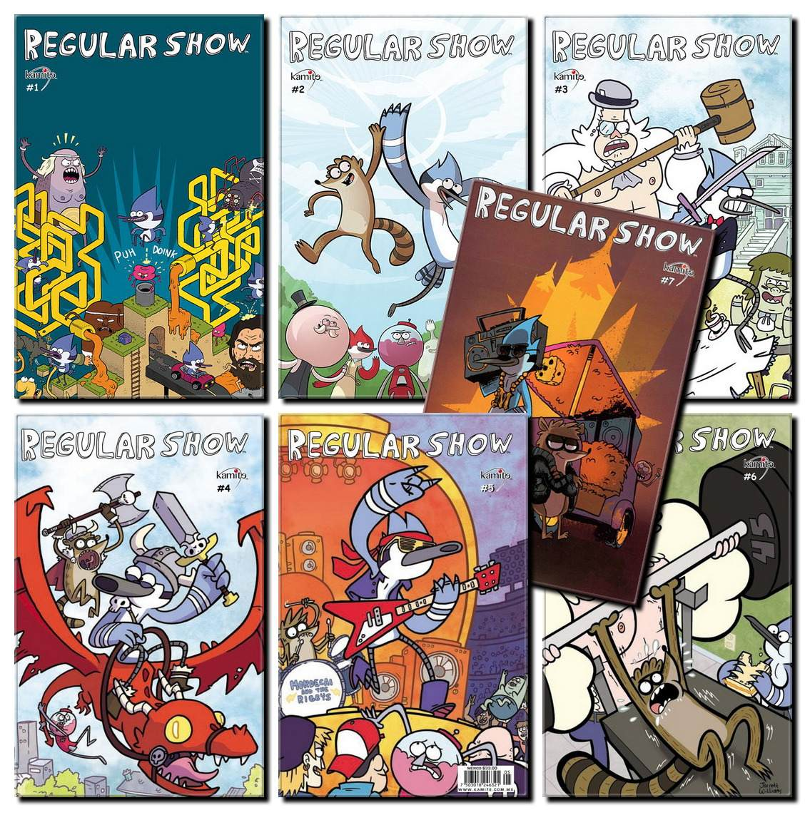 Remarkable, Regular show comics for the