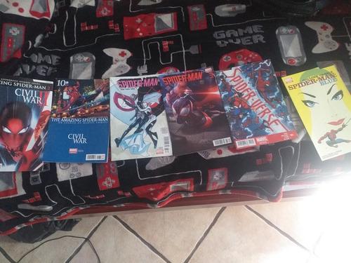 comics variados de spiderman (los mostrados en pantalla)