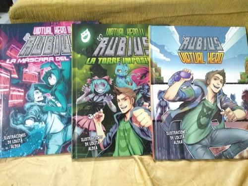cómics virtual hero el rubius 3 tomos tapa dura