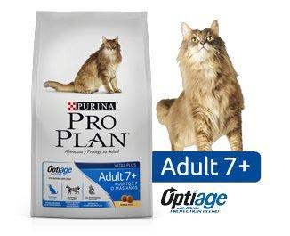 comida alimento proplan gatos mayores de 7 años 1kg